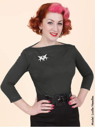 50s-1950s-Vivien-of-Holloway-Best-Vintage-Style-Reproduction-Repro-Slash-Neck-Top-Marle-Grey-Jersey-Rockabilly-Swing-Pinup