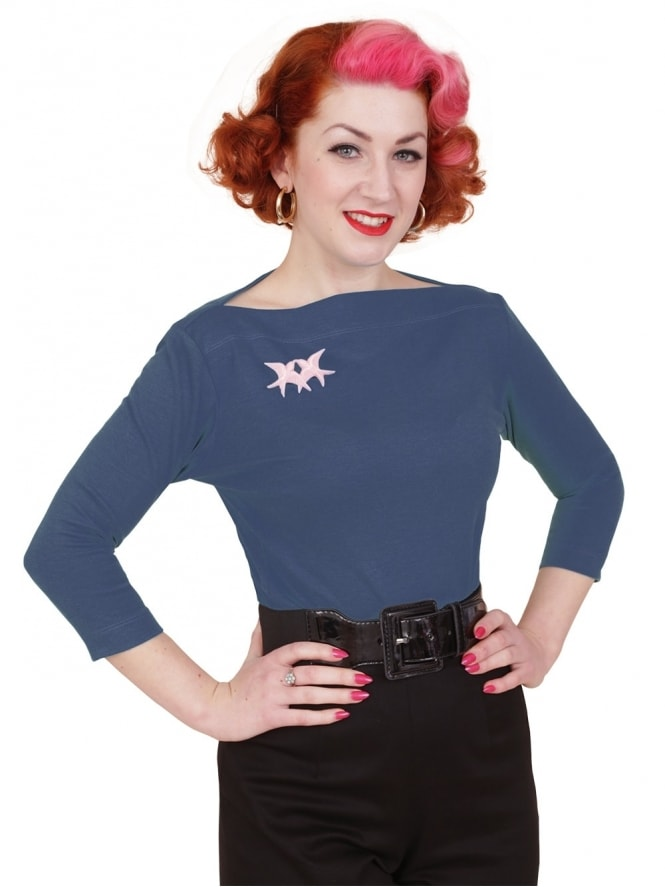 50s-1950s-Vivien-of-Holloway-Best-Vintage-Style-Reproduction-Repro-Slash-Neck-Top-Monaco-Blue-Rockabilly-Swing-Pinup