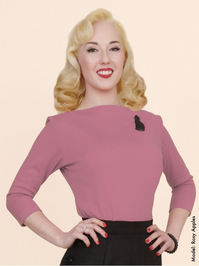 50s-1950s-Vivien-of-Holloway-Best-Vintage-Style-Reproduction-Repro-Slash-Neck-Top-Rose-Pink-Rockabilly-Swing-Pinup
