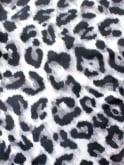 Slash Neck Top Silver Leopard