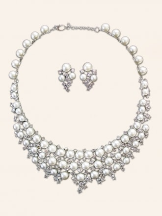 Sovereign Diamante and Pearl Set