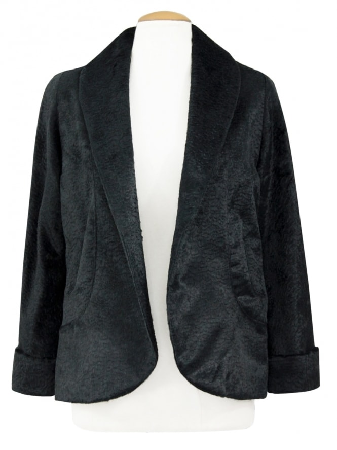 40s-1940s-Vivien-of-Holloway-Best-Vintage-Reproduction-Swagger-Jacket-Black-Astra-Rockabilly-Pinup