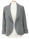 Swagger Jacket Black Gingham