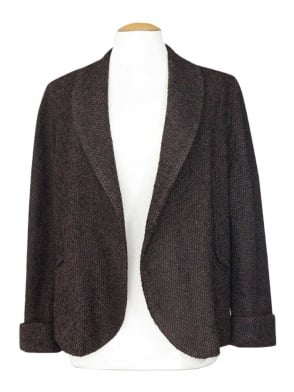Swagger Jacket Brown Black Fleck