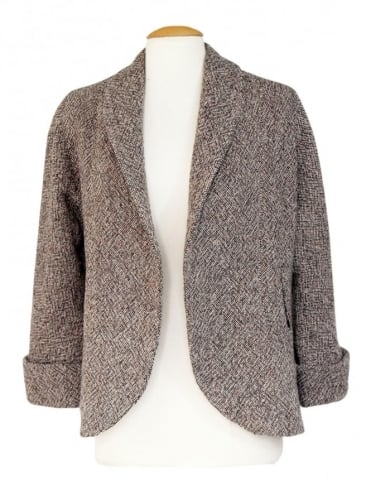 Swagger Jacket Brown Cream Fleck