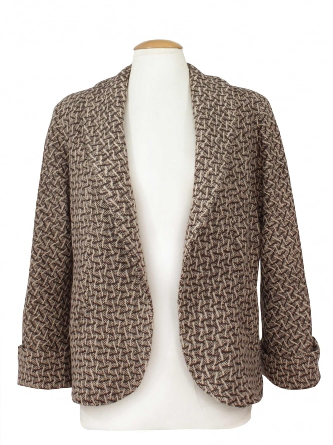 Swagger Jacket Brown Fleck