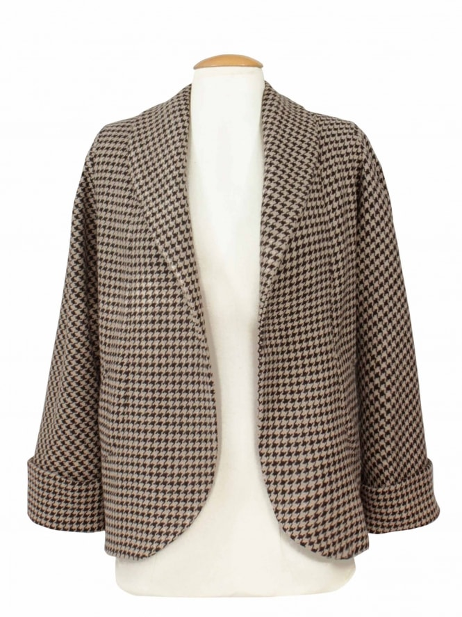 Swagger Jacket Dogtooth Brown
