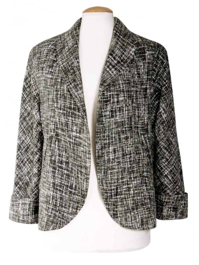 40s-1940s-Vivien-of-Holloway-Best-Vintage-Reproduction-Swagger-Jacket-Grey-Fleck-Rockabilly-Pinup