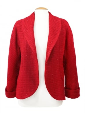 Swagger Jacket Red Sparkle