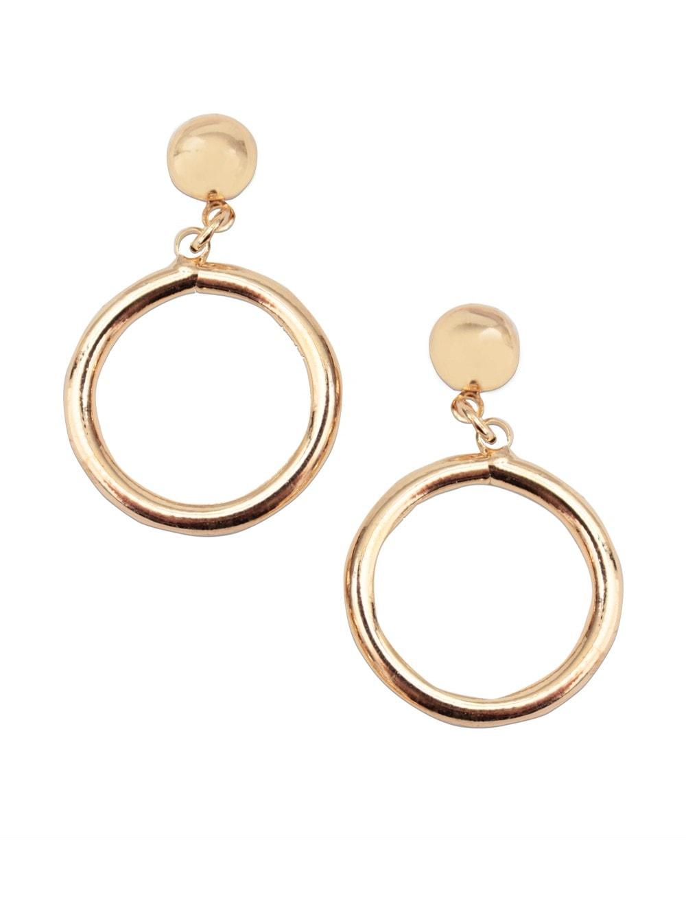 84429fbf4 Sweater girl mini drop hoop earrings - Gold from Vivien of Holloway