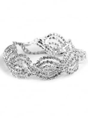 Swirl Diamante Bracelet