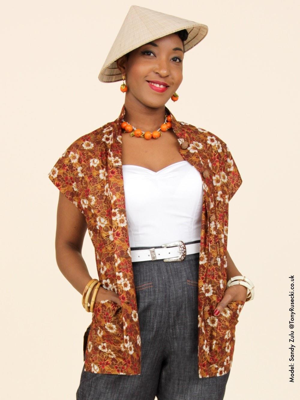 1940s-1950s cotton sun top