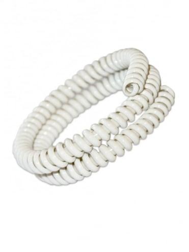 Telephone Cord Bracelet White