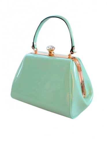 Tiffany Patent Handbag - Mint