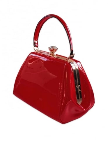 Tiffany Patent Handbag - Red