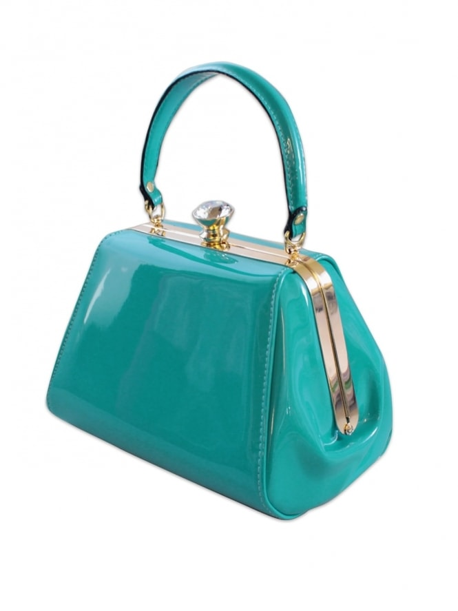 Tiffany Patent Handbag - Sky Blue