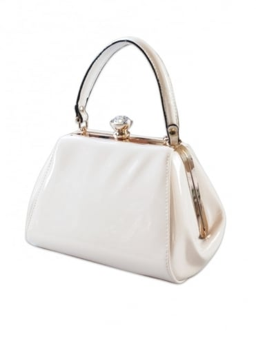 Tiffany Patent Handbag - White