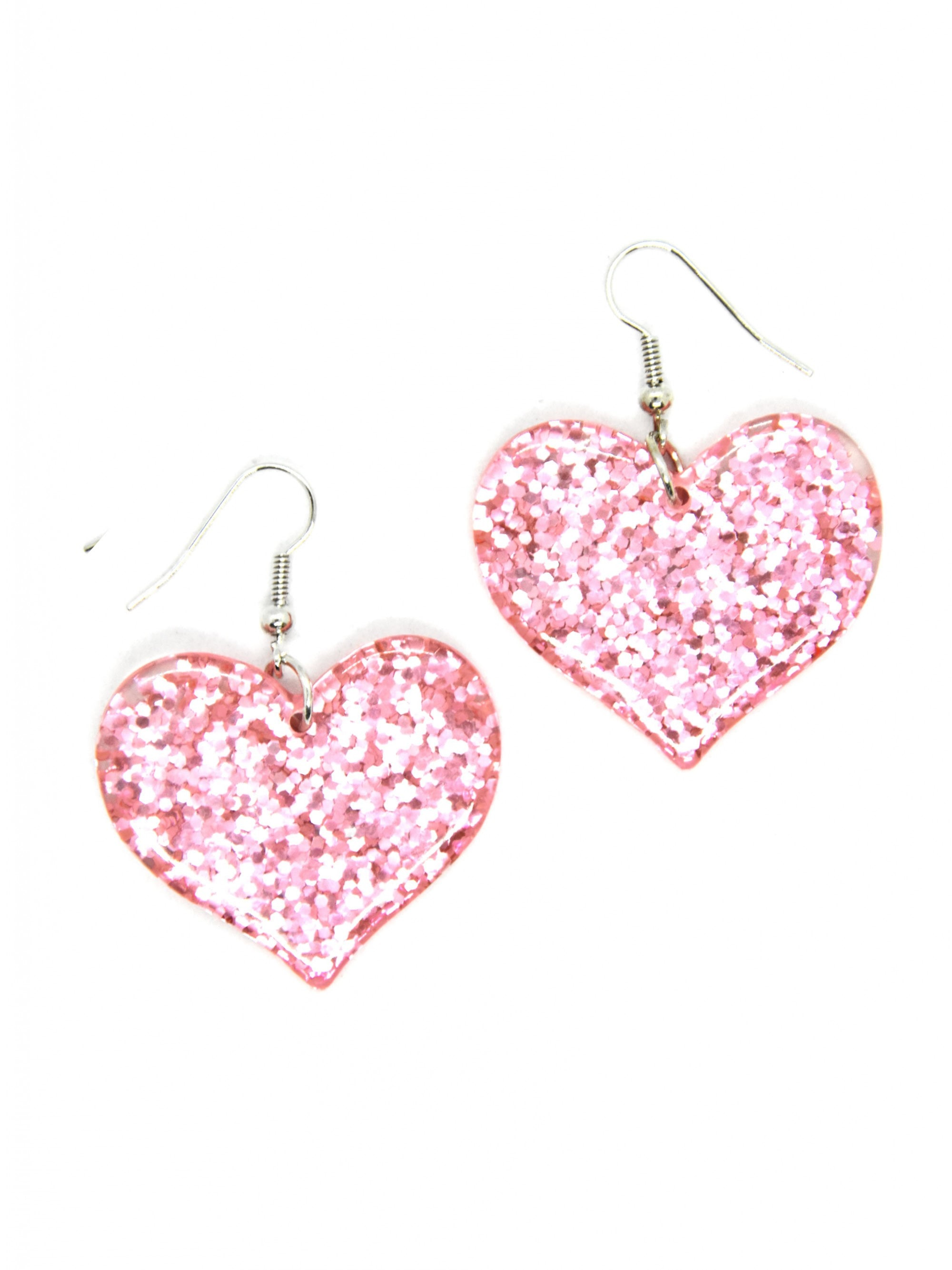 best sellers for women pink earrings dangle heart earrings pink valentines earrings clay valentines jewelry mothers day gift for friend