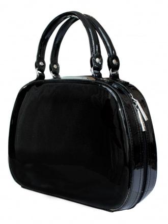 Vanity Handbag - Black Patent
