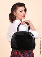 Vanity Handbag - Jet Black Patent