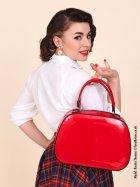 Vanity Handbag - Lipstick Red Patent