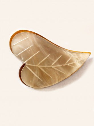 Vintage Pearl Leaf Brooch