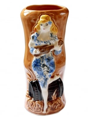 Vivien of Holloway Tiki Mug- Blue Dress